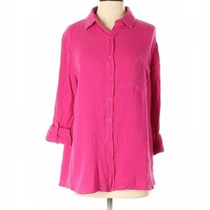 Soft Surroundings 3/4 sleeve top size small